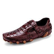 Férfi cipő Bőr Tavasz Ősz Formai cipő Papucsok & Balerinacipők Kompatibilitás Hétköznapi Party és Estélyi Fekete Burgundi vörös