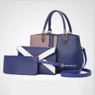 Női táska készletek pu all seasons esküvő esemény / party alkalmi formális iroda&Karrier héj cipzár szürke fekete kék