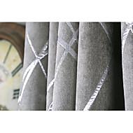 Prozor Liječenje Moderni / suvremeni , Prugasti uzorak Living Room Materijal Blackout Zavjese Zavjese Početna Dekoracija For Prozor