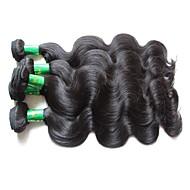 Hurtowa indyjska sylwetka fala dziewicze wiązek włosy 6pcs 600g lot top indian remy ludzkie włosy splotuje naturalny czarny kolor