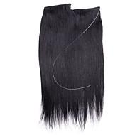 20inch 직선 레미 머리 보이지 않는 와이어 인간의 머리카락 확장 한 조각 80g
