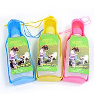 ネコ 犬 餌入れ/水入れ ペット用 ボウル&摂食 携帯用 イエロー ブルー ピンク