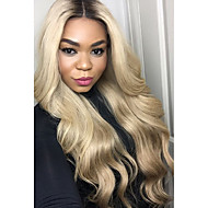 Ombre T1B/613 Brazilian Virgin Hair Glueless Lace Wigs Body Wave Lace Front Human Hair Wigs Remy Virgin Hair Wig with Baby Hair