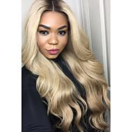 Naisten Aitohiusperuukit verkolla Brasilialainen Aidot hiukset Lace Front Liimaton puoliverkko 130% Tiheys Laineikas Luonnolliset
