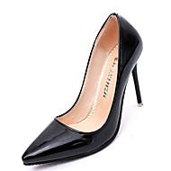 נשים נעליים עור אמיתי PU סתיו חורף נוחות בלרינה בייסיק עקבים עבור קזו'אל לבן שחור אפור אדום ורוד