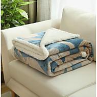 Flanel Bloemen Polyester/Katoen combi dekens