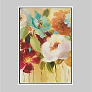 Floral/Botânico Vida Imóvel Impressão de Arte Emoldurada Art Frame Arte de Parede,Liga Material com frame For Decoração para casa Arte