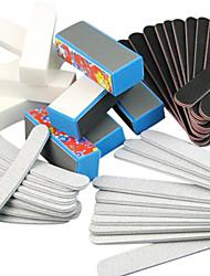 40 Stück 5 Arten Nagel-Kunst-Files & Buffer Blocks (Blumenarten) Maniküre-Set für Acryl-Nägel
