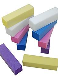 10pcs Puffer Schleifblock Datei Nail-Art-Set für Acrylnägel