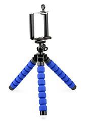"""mini-es100l tripé leve com 1/4 """"clipe de cabeça e telefone parafuso para câmera digital / telefone móvel / celular"""