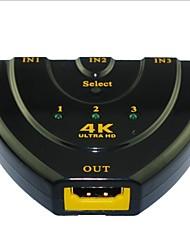 Yong wei® 4 port 3 u 1-out 4k × 2k Ultra HD HDMI v1.4 3d switcher