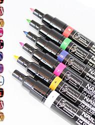 1db 3d köröm festés tollvonásait virág toll körömlakk toll 16color