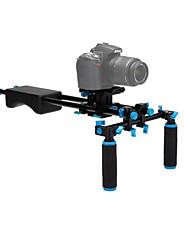 yelangu® ingebouwde waterpas aluminium, rubber dslr schouder rigs video stabilisator voor dslr-camera's