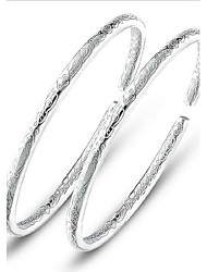 S925 Pure Stering Silver Open Bangle Bracelet Jewelry