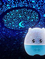 1pc batterij stochastische patroon 's nachts licht lamp binnenlandse projector lampen sterrenhemel briljante nachtlampje