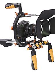 yelangu dslr rig set movie kit filmmaken systeem op te nemen schouder monteren volgen focus en matte doos voor alle dslr camera's en video