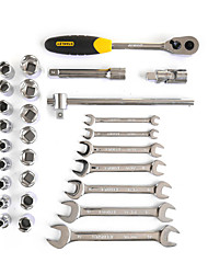 Stanley metric polido chave aberta dupla 28 peças 12,5 milímetros lt-024-23 conjunto de ferramentas de reparação automática