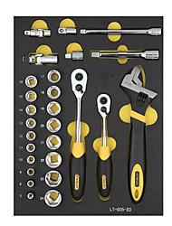 Stanley conjunto de ferramentas 27 peças 10 12,5 mm série 6 ângulo luva lt-025-23