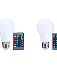 2pcs RGB with Memory Dimmable E27 LED Smart Bulbs A70 RGB Remote-Controlled Home Christmas Decorative RGB Led Lamp AC85-265V