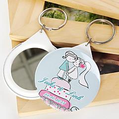 פלסטיק מצדדים במחזיק מפתחות-12 חתיכה / סט מחזיקי מפתחות נושא אגדות מותאם אישית ורוד / כחול