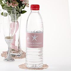 Garrafa de água personalizada Sticker - Starfish (rosa / conjunto de 15)