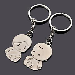 Chá de Bebê / Aniversário Party Favors & Gifts-12Peça/Conjunto Chaveiro para Lembrancinha Personalizado Prata