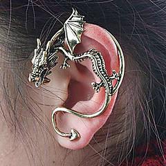 Femme Boucles d'oreille goujon Poignets oreille Original Personnalisé Vintage bijoux de fantaisie Alliage Dragon Bijoux Pour Soirée
