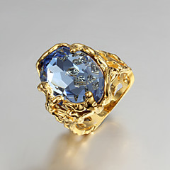 Naisten Tyylikkäät sormukset Kihlasormus Love ylellisyyttä koruja pukukorut Cubic Zirkonia Gold Plated 18K kulta Korut Korut