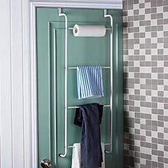 Orange ® 1set Badeværelse Håndklæde Barer Badeværelse Hylder Dør Hook Toilet racks L40 * 3 * H110CM