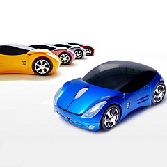 2,4 GHz trådløs super bil mønster optisk mus (assorterede farver)