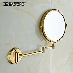 weiyuwuxian® 360 graders roterende 8-tommer 3x forstørrelsesglas solid messing kosmetikspejl
