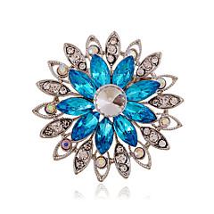 Feminino Acrílico Strass Cerâmica imitação de diamante Liga Moda Roxo Café Azul Jóias Casamento Festa Diário