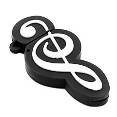 zpk12 64gb musique noire note usb 2.0 lecteur de mémoire flash u bâton