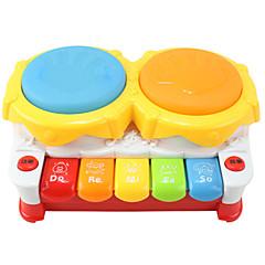 käsi rumpu syttyvät monikäyttöinen muovinen värikäs musiikki lelu
