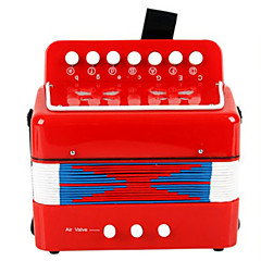 akordeon hudební hračka plast červená / zelená / modrá / růžová