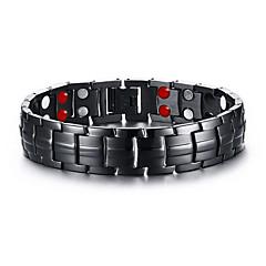 Pánské Řetězové & Ploché Náramky Magnetická terapie Přizpůsobeno bižuterie Nerez Circle Shape Šperky Pro Denní Ležérní Sport Vánoční dárky