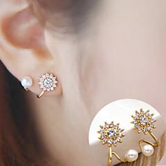 Femme Boucles d'oreille goujon Mode Simple Style bijoux de fantaisie Alliage Forme de Fleur Spot Multicouleur Bijoux Pour Quotidien
