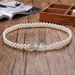 Bead / Elastic Wedding / Party/ Evening Sash-Imitation Pearl Women's Sashes
