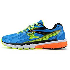 X-tep נעלי ריצה נעלי ספורט בגדי ריקוד גברים Anti-Shake נושם נוח תומך זיעה קל במיוחד (UL) ספורט חוץ אימון ריצה שרוכים לכל האורךרשת נושמת