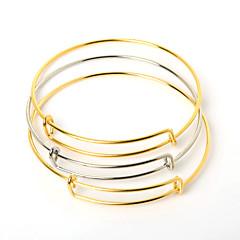 Beadia 10Pcs 6.5cm Steel Adjustable Bracelet