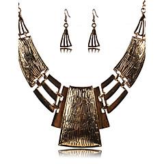 여성용 보석 세트 드랍 귀걸이 문 목걸이 섹시 페스티발/홀리데이 유럽의 빈티지 의상 보석 은 도금 합금 보석류 목걸이 귀걸이 제품 파티 일상 캐쥬얼 결혼 선물