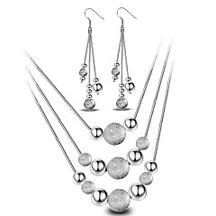 Žene Komplet nakita Viseće naušnice Ogrlice s privjeskom Osnovni dizajn Moda Simple Style kostim nakit Plastika Lopta Ogrlice Füllbevalók