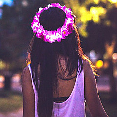 rosa ledet blomst krone / floral headbandlight opp blomst glorie / pannebånd halloween coustume julegave