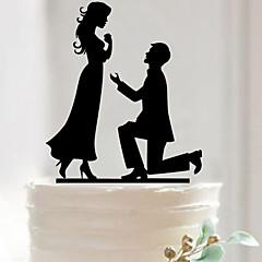 Kakepynt Ikke-personalisert Akryl Bryllup / Jubileum / Bridal Shower SvartHage Tema / Asiatisk Tema / Blomster Tema / Sommerfugl Tema /