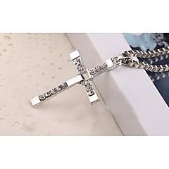 Homme Pendentif de collier Forme de Croix Alliage Géométrique Religion Bijoux Pour Halloween