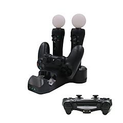 4 in 1 latausasema PS4 peliohjain / ps liikkua / ps vr ohjain