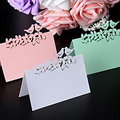 Placecard Holders-Pearl Paper-Koruton Teema-Valkoinen Vaaleanpunainen Vihreä Yleinen