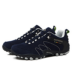 LEIBINDI נעלי ספורט נעלי טיולי הרים נעלי ריצה לגברים נגד החלקה Anti-Shake חסין בפני שחיקה טבע אימון סוליה נמוכה עור נובוק EVA מחוררריצה