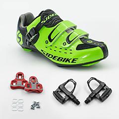 BOODUN/SIDEBIKE® Sneakers Wegwielrenschoenen Fietsschoenen met pedalen & schoenplaten Unisex Opvulling Straatfiets Ademend Gaas PU