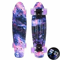 22 Zoll Cruisers Skateboard PP (Polypropylen) ABEC-11-Purpur Blau Rosa